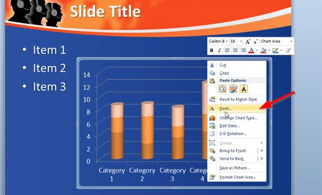 Change Chart Label Color in PowerPoint 2010