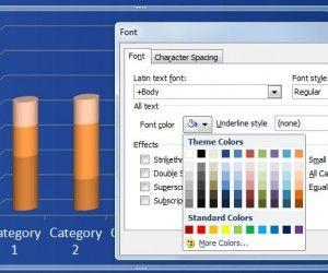 How to Change Chart Label Color in PowerPoint 2010