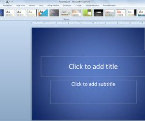 How to Use a Simple Background in PowerPoint 2010