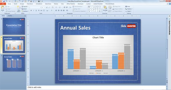 PowerPoint Template Chart Example