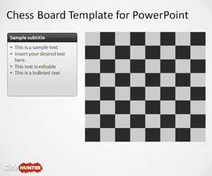 Chess Board Template for PowerPoint