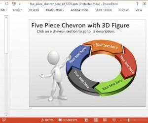 Animated Circular Diagram Template With Chevron Arrows