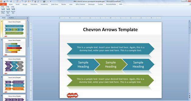 free chevron arrows template for powerpoint