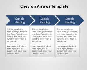 Chevron Arrows Template for PowerPoint