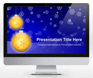 Golden Balls Christmas PowerPoint Template