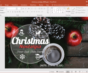 Animated Nostalgic Christmas PowerPoint Template