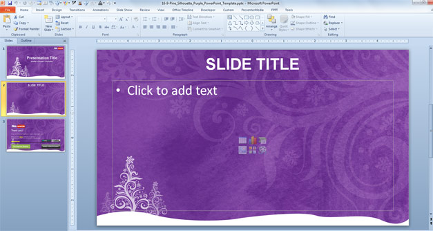 Use Fppt Powerpoint Templates To Share Presentations With Free Blue