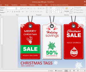 Animated Christmas Sales PowerPoint Template