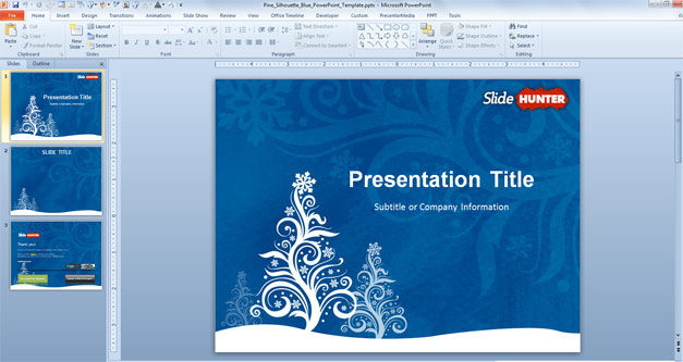 Free Christmas Tree PowerPoint Template