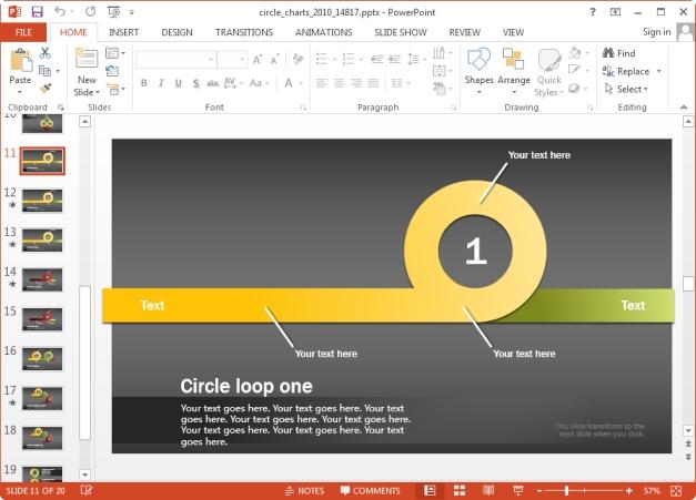 circle loop slides