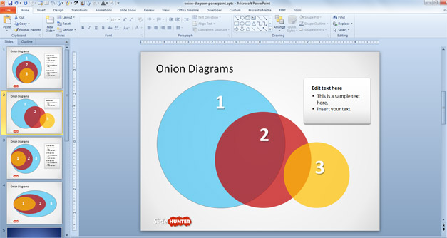 Free Onion Diagram for PowerPoint