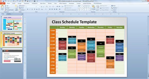 Group Schedule Template from slidehunter.com