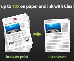 CleanPrint: Optimize Webpages For Printing And Save To Cloud Services