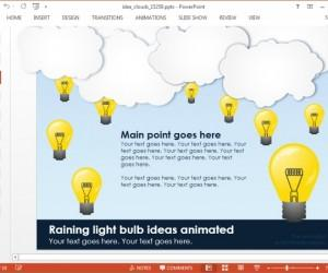 Animated Idea Light Bulb PowerPoint Template