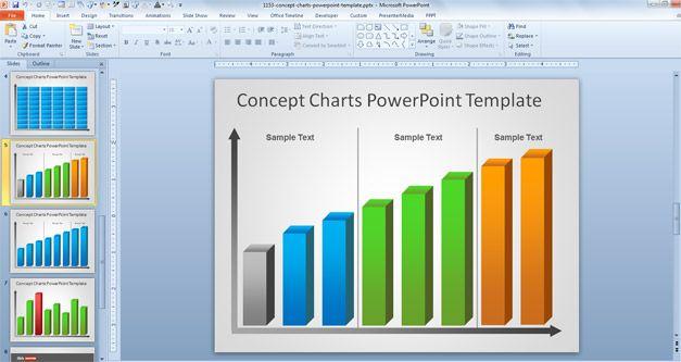 Org chart in ppt template crisfeline free creative bar chart powerpoint template toneelgroepblik Images