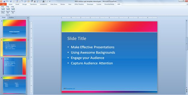 Free Colorful PowerPoint template