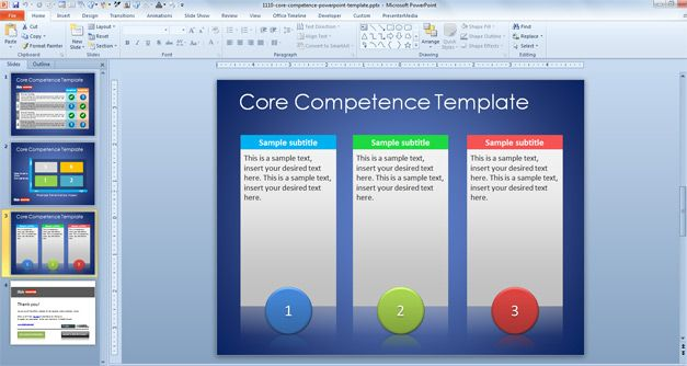 comparsion table in powerpoint
