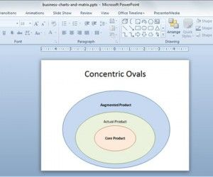 Drawing Concentric Circles in PowerPoint 2010