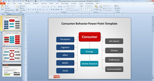 Free Consumer Behavior Tree Diagram for PowerPoint