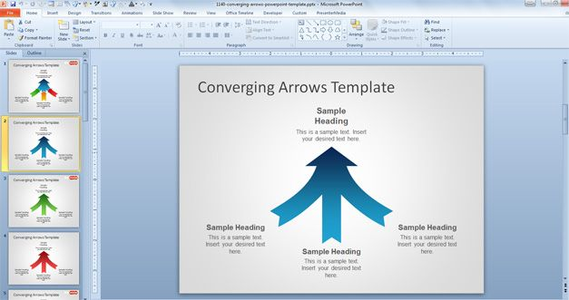 Free arrow powerpoint template flashek Choice Image