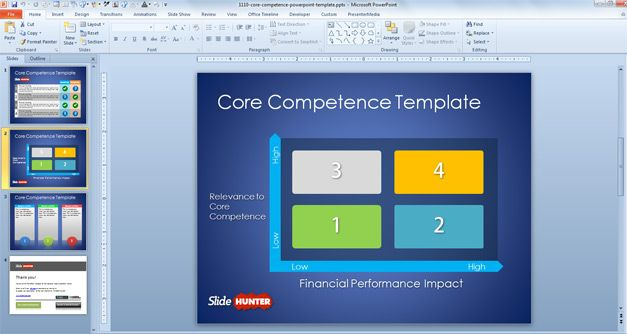 Free Core Competence PowerPoint Template