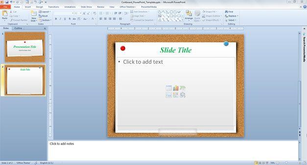 Free Corkboard Powerpoint Template