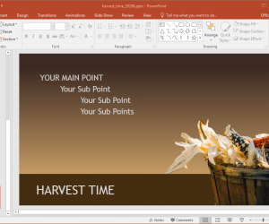 Animated Harvest Time PowerPoint Template