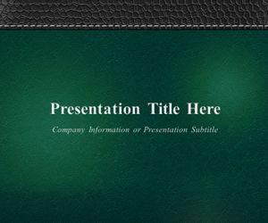 Plantilla de PowerPoint Corporativa con Fondo Verde