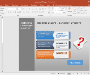 Animated PowerPoint Quiz Template For Conducting Interactive Quizzes
