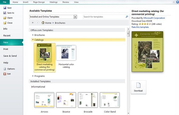 How to Create Catalog in Microsoft Publisher