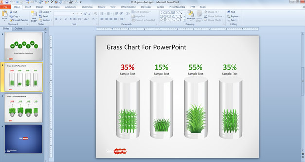 Creative Chart Visualization PowerPoint