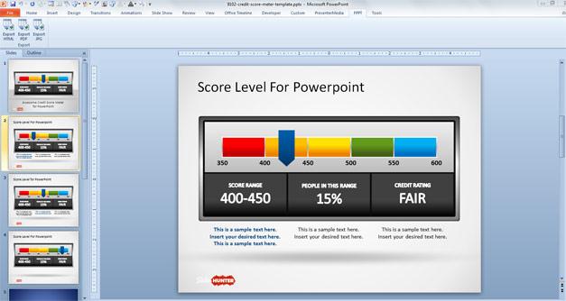scoreboard template for powerpoint - free awesome credit score meter for powerpoint free