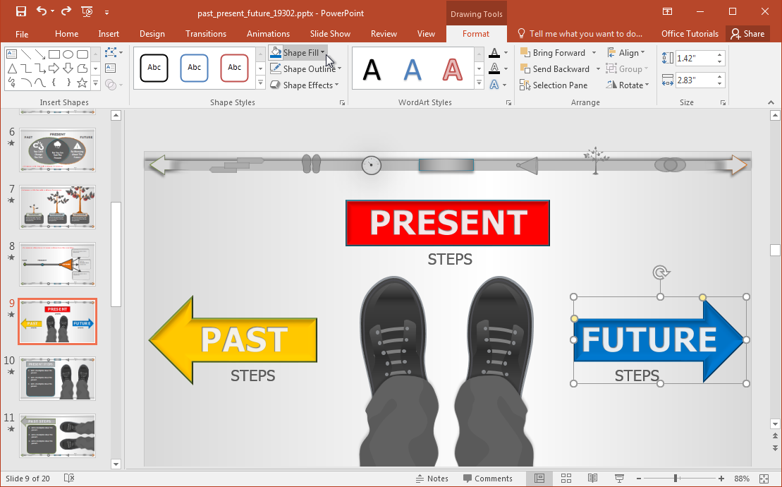 customize-past-present-future-slide