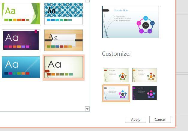 theme powerpoint online