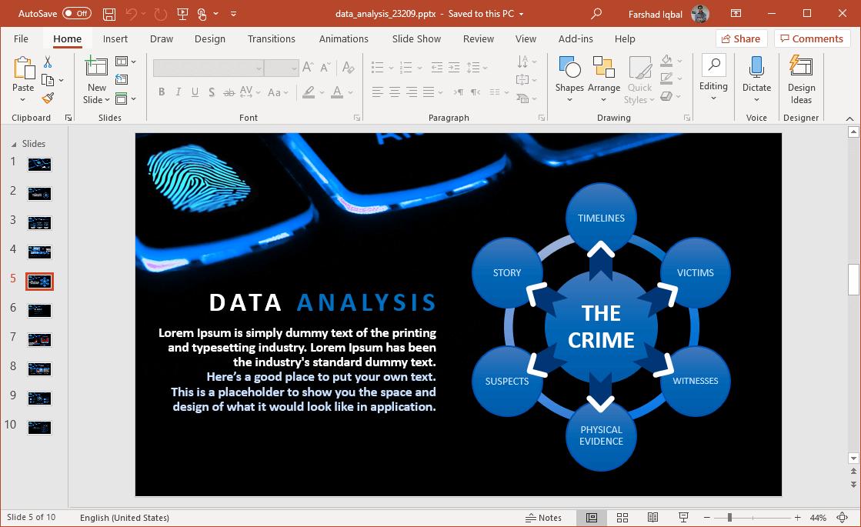 data driven presentations