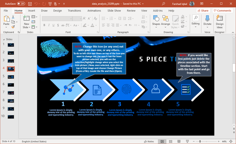 data driven slide