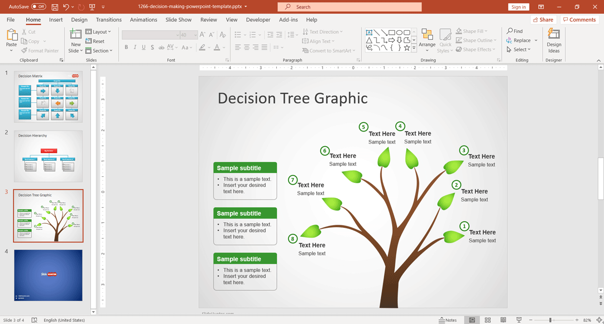 Decision Tree for PowerPoint