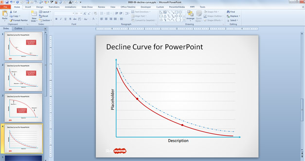 Free Decline Curve for PowerPoint