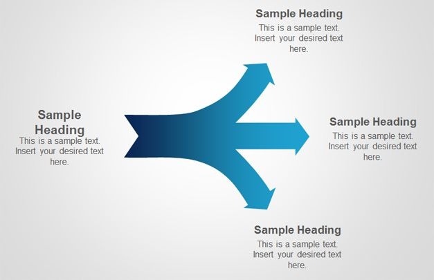 diverging arrows powerpoint
