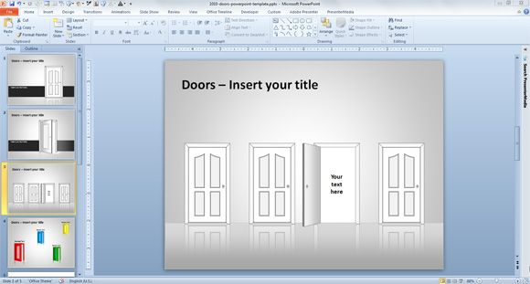 doors ppt template