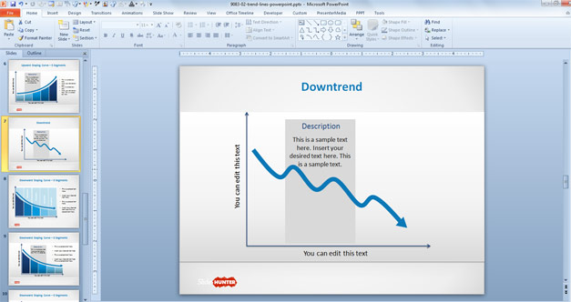 Downtrend Lines for PowerPoint