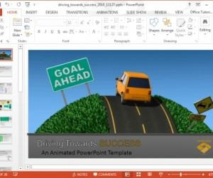 PowerPoint Video Animation Of Car Driving Towards Success