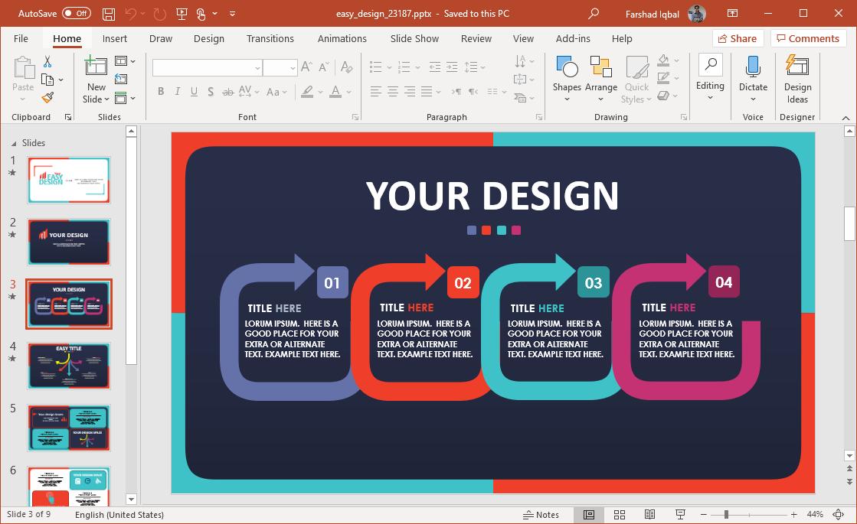 easy design comparison slide