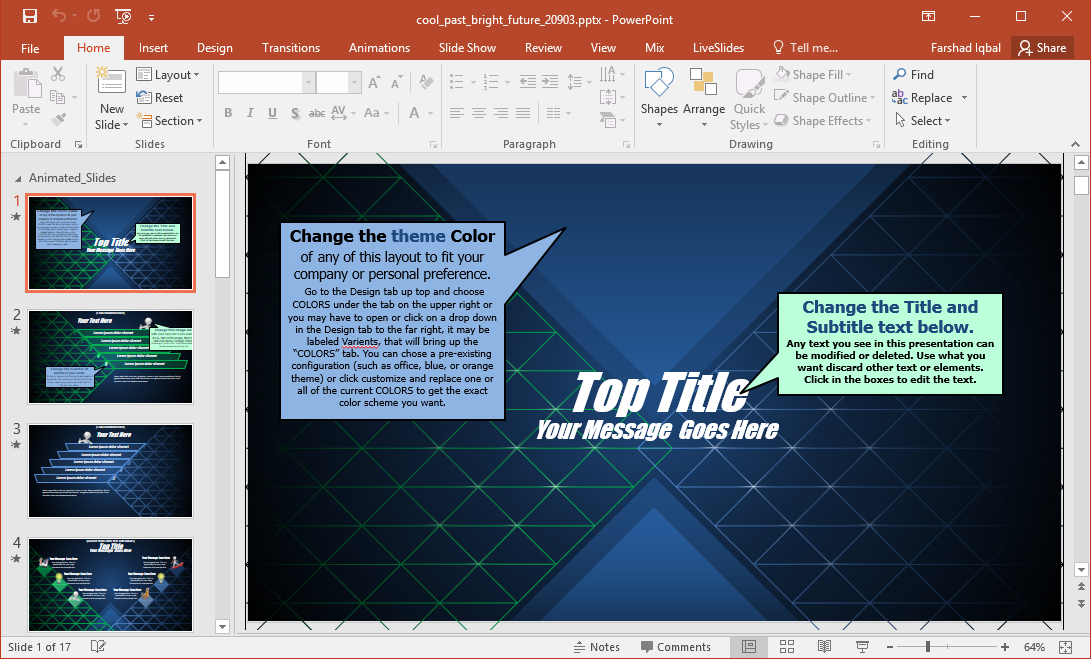 bright future powerpoint template
