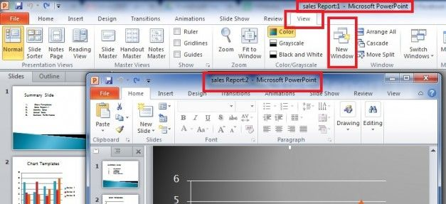 Edit a PowerPoint Presentation in Two Windows