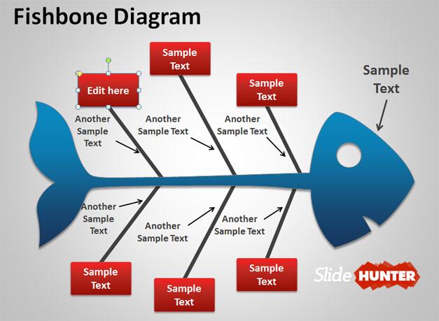Creative Fish Diagram in PPT slide design