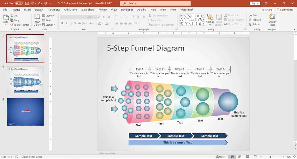 Horizontal Funnel Diagram