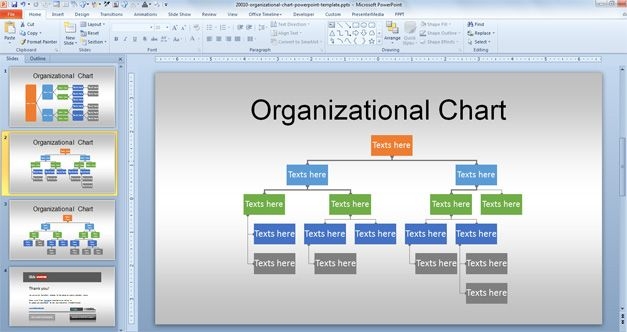 Creative & Editable Org Chart PowerPoint Template