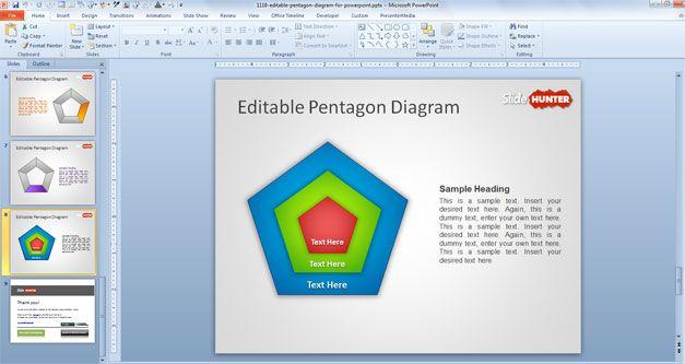 pentagon diagram powerpoint