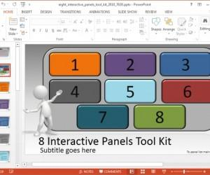 Create Interactive PowerPoint Presentations With 8 Panels Template